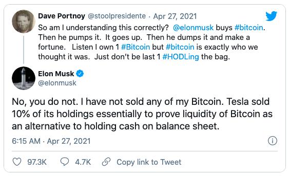 Bị tag thẳng mặt, tố làm phép thổi giá Bitcoin để trục lợi, Elon Musk phản pháo đanh thép, hút cả trăm ngàn lượt like ủng hộ - Ảnh 3.