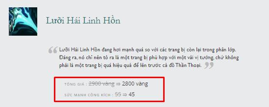 Thánh Riven xứ Hàn bức xúc với cách Riot chỉnh sửa trang bị: Lưỡi Hái Linh Hồn quá mất cân bằng - Ảnh 5.