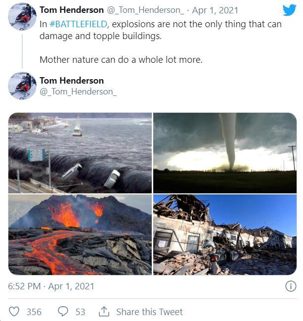 Bản đồ của Battlefield 2021 có thể bị phá hủy bởi động đất, sóng thần - Ảnh 2.