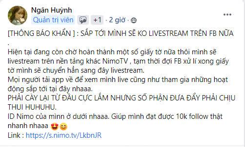 Ngân Sát Thủ tuyên bố không livestream FB nữa, cho biết vì nghe lời ViruSs nên mới có ngày hôm nay - Ảnh 2.