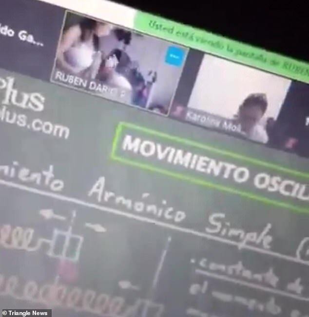 Thầy giáo khốn đốn vì quên tắt camera rồi làm cảnh nóng với vợ khi giảng bài online - Ảnh 3.