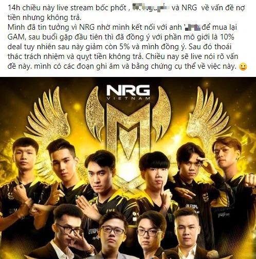 Drama: Vừa mua lại GAM Esports, NRG đã bị tố quỵt tiền - Ảnh 1.