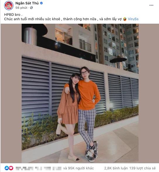 Đào lại ảnh chúc mừng sinh nhật bạn trai cũ của Ngân Sát Thủ, MisThy bình luận một câu chí mạng về tương lai mối quan hệ cặp đôi này - Ảnh 1.