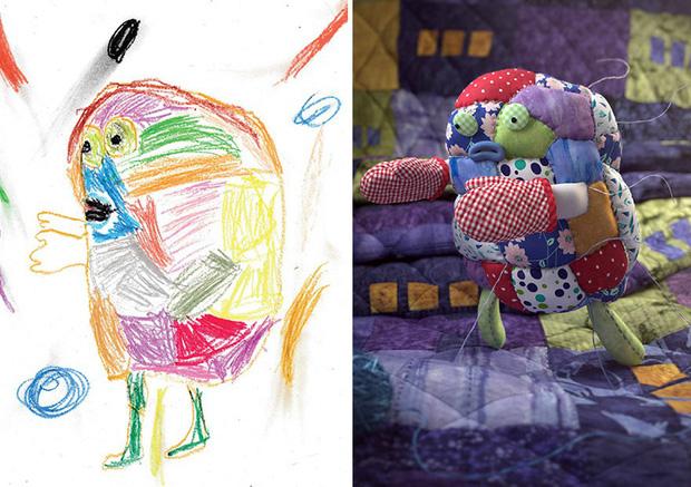 Loạt tranh vẽ nhân vật game cực ngầu đến từ tác phẩm nguệch ngoạc của trẻ nhỏ - Ảnh 3.