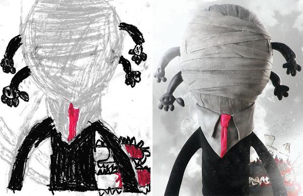 Loạt tranh vẽ nhân vật game cực ngầu đến từ tác phẩm nguệch ngoạc của trẻ nhỏ - Ảnh 4.