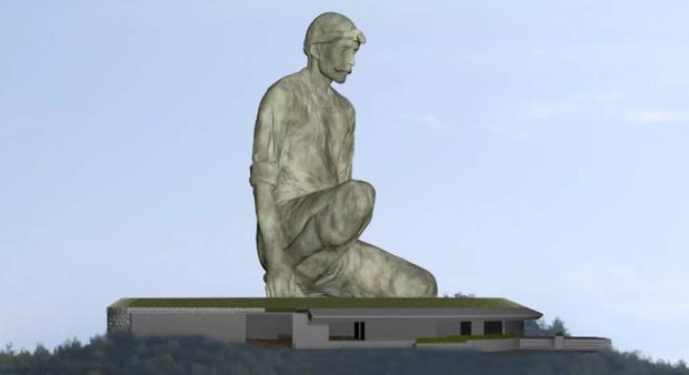 Đảo Síp khoe tượng khổng lồ cao 40m mới xây, tạo dáng khó hiểu nên lại thành... nhạy cảm - Ảnh 1.