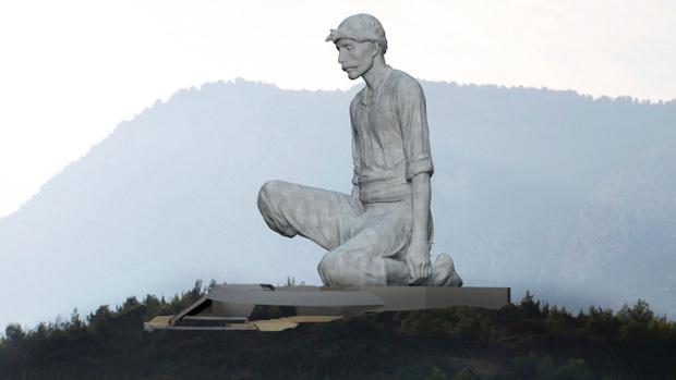 Đảo Síp khoe tượng khổng lồ cao 40m mới xây, tạo dáng khó hiểu nên lại thành... nhạy cảm - Ảnh 2.