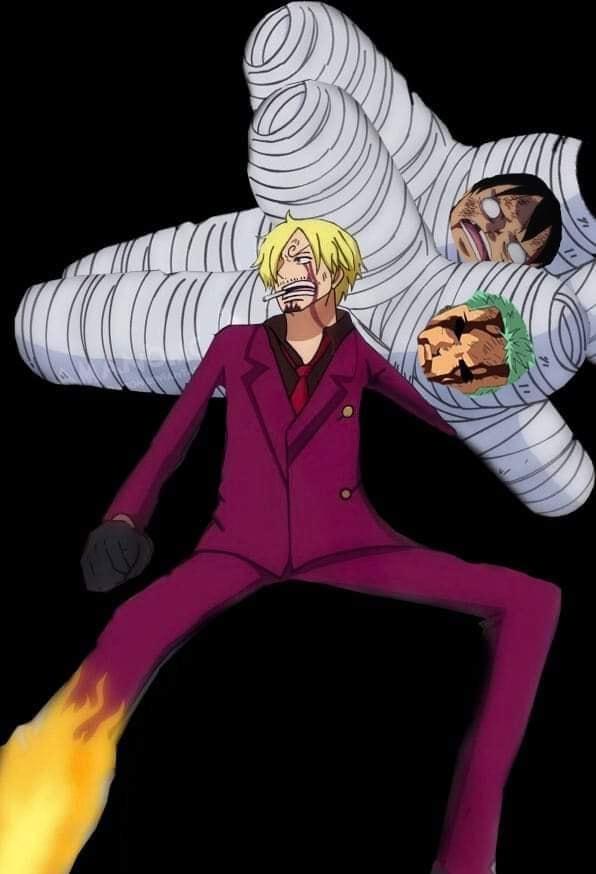 One Piece: Hài hước với bức ảnh chế Vua cứu người Sanji băng bó cho Luffy, cái gì cũng đến tay anh tóc vàng - Ảnh 2.
