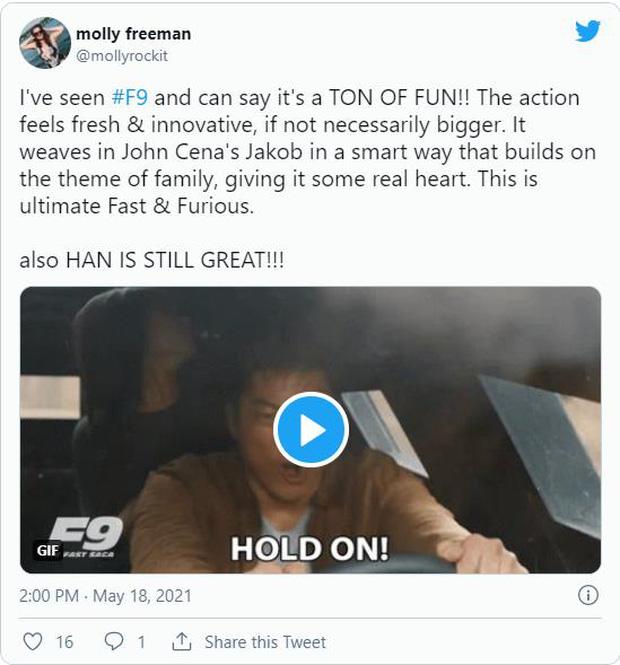 Fast & Furious 9 nhận cơn mưa lời khen: Phần phim hoành tráng và ảo nhất thương hiệu là đây! - Ảnh 2.