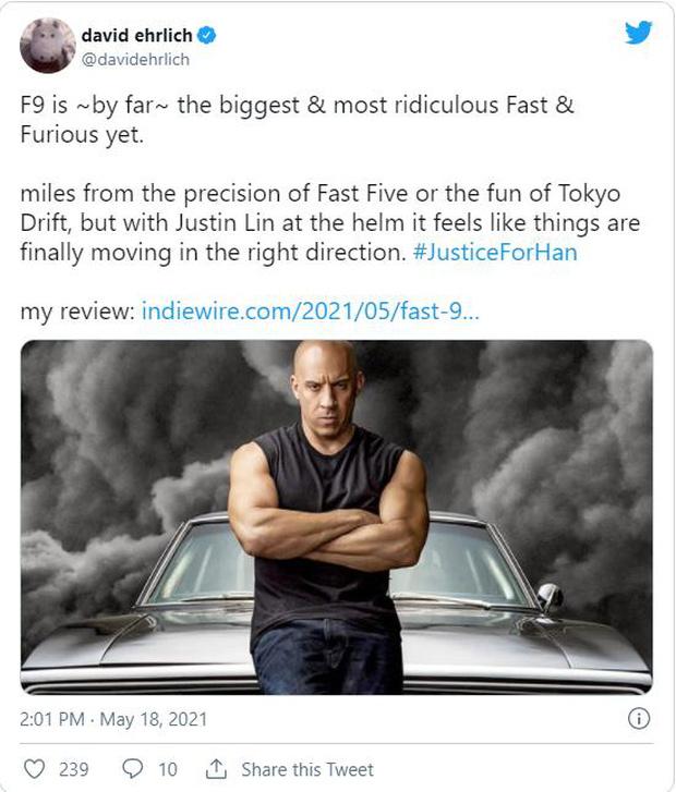 Fast & Furious 9 nhận cơn mưa lời khen: Phần phim hoành tráng và ảo nhất thương hiệu là đây! - Ảnh 4.