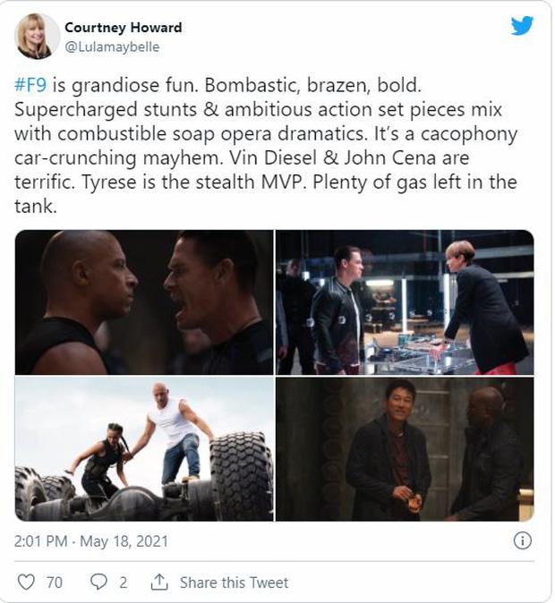 Fast & Furious 9 nhận cơn mưa lời khen: Phần phim hoành tráng và ảo nhất thương hiệu là đây! - Ảnh 6.