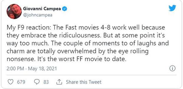 Fast & Furious 9 nhận cơn mưa lời khen: Phần phim hoành tráng và ảo nhất thương hiệu là đây! - Ảnh 7.