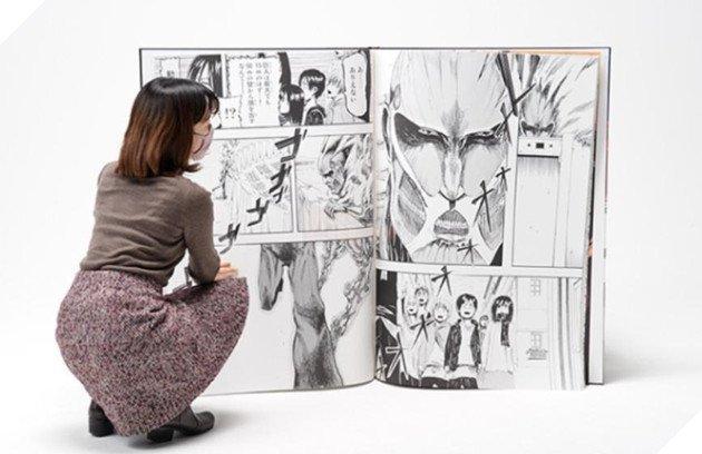 Attack On Titan nhận kỷ lục Guinness Cuốn manga khổng lồ nhất thế giới chỉ sau 2 phút phát hành - Ảnh 3.