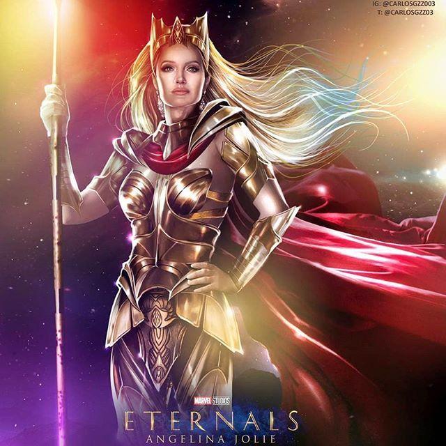 Eternals: CĐM hết lời khen ngợi visual quá đỉnh của Angelina Jolie khi vào vai nữ chiến binh Thena - Ảnh 7.