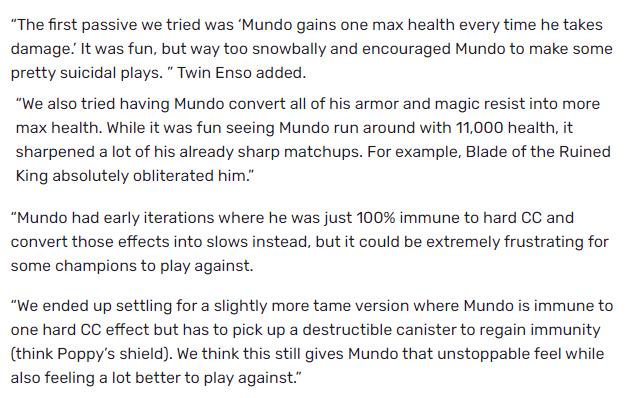 LMHT: Suýt nữa thì Dr. Mundo mới sẽ sở hữu 11 nghìn máu, miễn nhiễm khống chế cứng chỉ với nội tại - Ảnh 2.