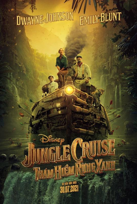Cặp đôi hoàn cảnh The Rock và Emily Blunt thám hiểm rừng xanh trong trailer phim hành động Jungle Cruise - Ảnh 2.
