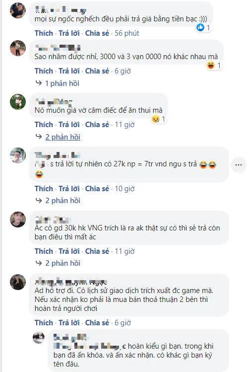 """Chuyển nhầm số ngân phiếu cực lớn lên tới gần chục triệu VNĐ trong VLTK 1 Mobile, game thủ """"khóc"""" cầu cứu VNG - Ảnh 4."""
