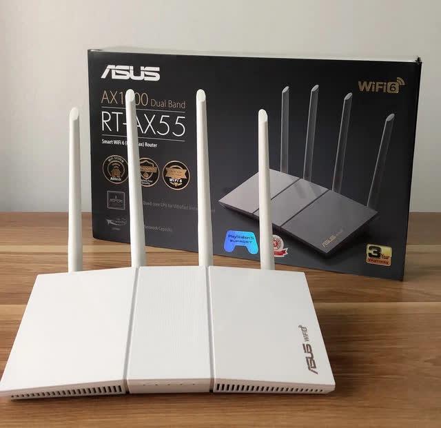 """Router ASUS RT-AX55: Công nghệ Wi-Fi 6 - """"Cặp đôi song sát cực mạnh"""" Z2467940380969a60bc9f86da05f6ba839de0729688d76-16201224046991528398416-16201224250282104897171"""