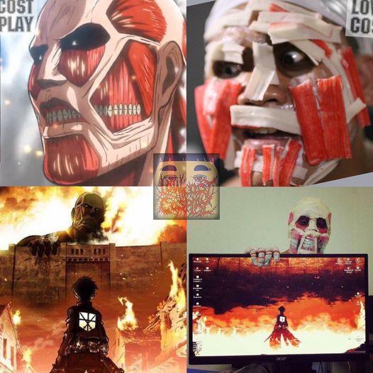 Attack on Titan: Ngắm cosplay Titan siêu lầy lội của anh chàng Thái Lan Low Cost Cosplay mà được khai nhãn - Ảnh 1.