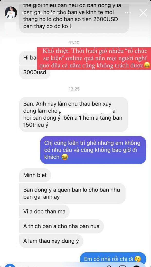 Bị gạ combo 150 triệu + 1 căn nhà cho một đêm ở cạnh, nàng hot girl Việt hài hước đáp trả Em có nhà rồi - Ảnh 3.