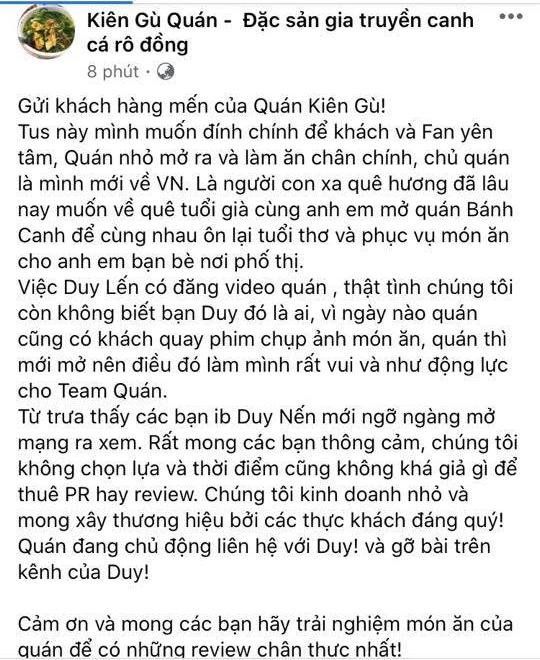Review quán ăn trong mùa dịch, Duy Nến bị lên án, netizen tẩy chay đến cùng, video vừa ra đã phải gỡ xuống - Ảnh 6.