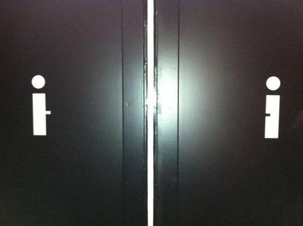 Những ý tưởng biển báo nhà vệ sinh công cộng não to của nhà thiết kế - Ảnh 4.