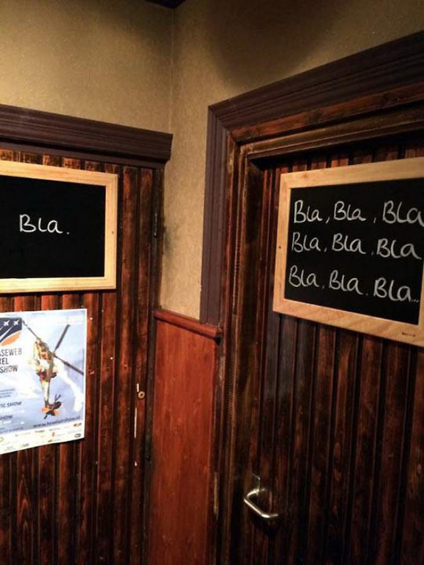Những ý tưởng biển báo nhà vệ sinh công cộng não to của nhà thiết kế - Ảnh 1.