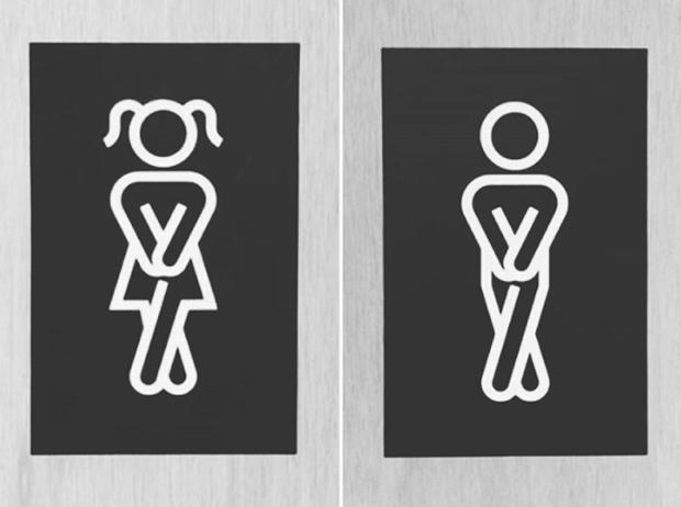 Những ý tưởng biển báo nhà vệ sinh công cộng não to của nhà thiết kế - Ảnh 14.