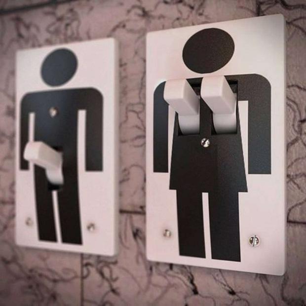 Những ý tưởng biển báo nhà vệ sinh công cộng não to của nhà thiết kế - Ảnh 7.