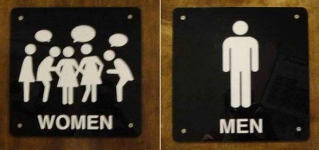 Những ý tưởng biển báo nhà vệ sinh công cộng não to của nhà thiết kế - Ảnh 8.