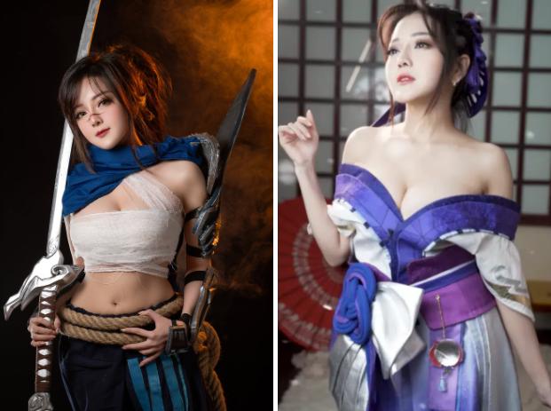 """Chủ đích khoe góc máy chơi game """"xịn sò"""" nhưng nữ coser lại khiến fan """"mlem"""" vì điều khác - Ảnh 1."""