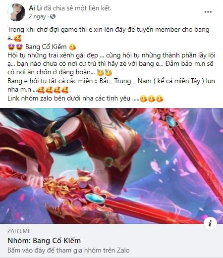 U mê Tuyệt Kiếm Cổ Phong không lối thoát, game thủ Việt nô nức lập bang, tuyển thành viên chờ ngày ra mắt - Ảnh 16.