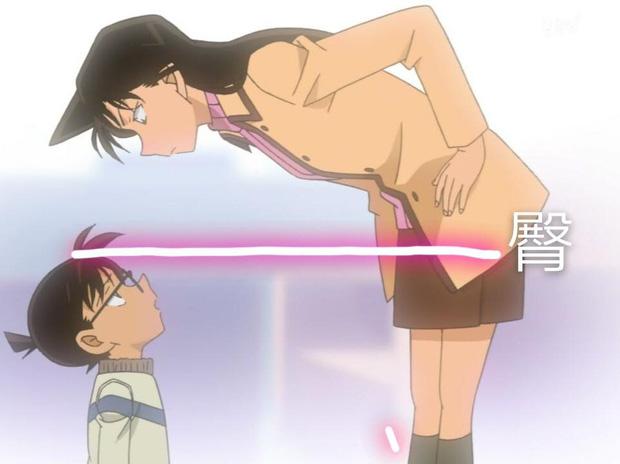 Hình ảnh rõ ràng hơn của Conan cho thấy có khi Conan cao đến... thắt lưng Ran?