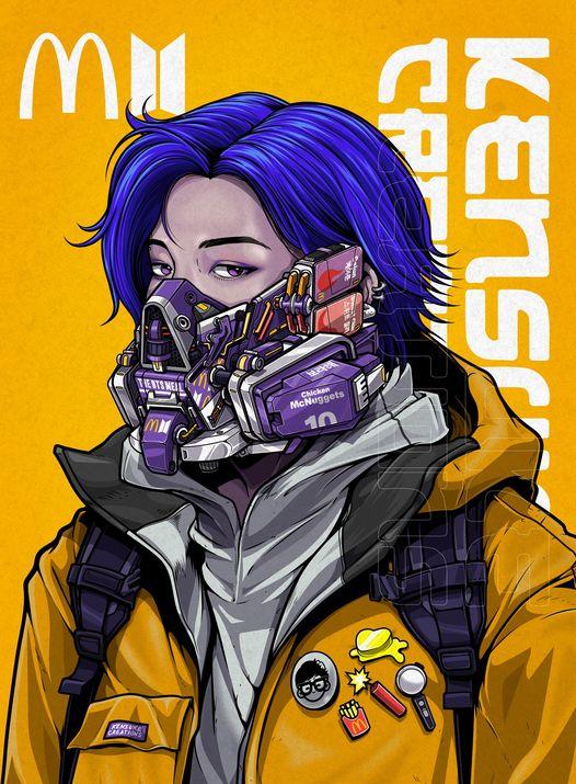 Mê mẩn những chiếc mặt nạ máy móc của dàn nhân vật anime, cảm giác vừa ngầu vừa an toàn - Ảnh 8.