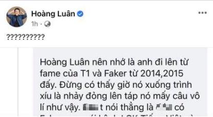 Bị cáo buộc coi thường và bình luận tiêu cực về Faker, BLV Hoàng Luân lên tiếng phản hồi - Ảnh 4.