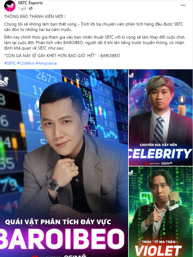 SBTC Esports thông báo nhân sự mới đùa như thật, nhưng fan lại hoang mang vì nghi vấn Celebrity giải nghệ làm HLV? - Ảnh 1.