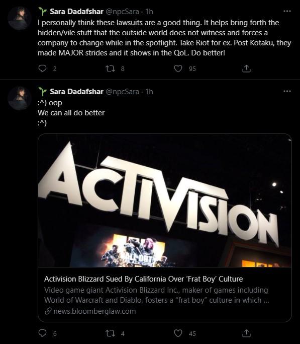 Nhân viên Riot Games bình luận về scandal phân biệt giới tính của Activision Blizzard: Vụ kiện này là điều tốt - Ảnh 3.