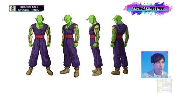 Piccolo có bắp tay màu vàng và đeo một chiếc obi màu đỏ.