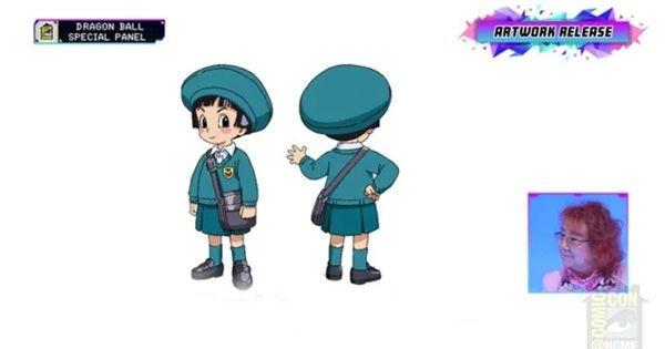 Bản thiết kế chính thức cho nhân vật Pan, cháu gái của Son Goku. Trong bộ phim này, có vẻ như Pan đã vào mẫu giáo.