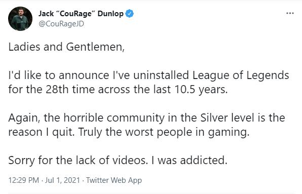 Bị đồng đội rank Bạc bán hành, YouTuber tuyên bố gỡ cài đặt LMHT lần thứ 28 sau hơn 10 năm gắn bó - Ảnh 2.