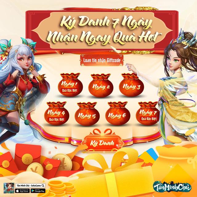 Gamer Tân Minh Chủ tiếp tục được ngồi mát ăn bát vàng: Ký danh 7 ngày nhận ngay quà HOT, KNB vào túi ầm ầm - Ảnh 1.