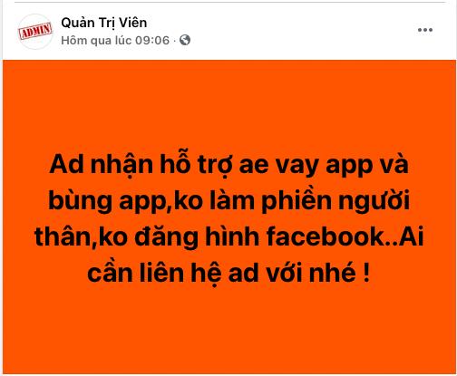 Lập hội quỵt tiền ứng dụng cho vay trên mạng xã hội - Ảnh 2.