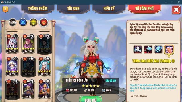 Đội hình siêu tốc vượt ải server mới cho dân cày chay Tân Minh Chủ: Nạp 0 đồng vẫn vượt Hoa Sơn chương 10 - Ảnh 7.
