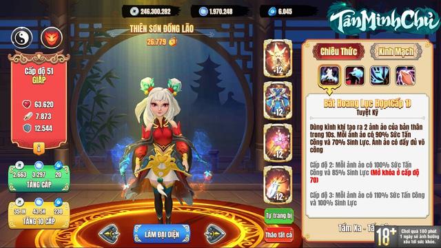 Đội hình siêu tốc vượt ải server mới cho dân cày chay Tân Minh Chủ: Nạp 0 đồng vẫn vượt Hoa Sơn chương 10 - Ảnh 8.