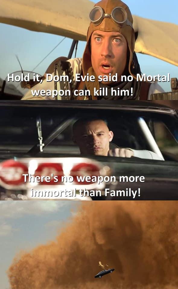 Fast & Furious 9: MXH bùng nổ ảnh chế của gia đình Dom, màn kết hợp sức mạnh ảo diệu mang tầm cỡ vũ trụ - Ảnh 5.