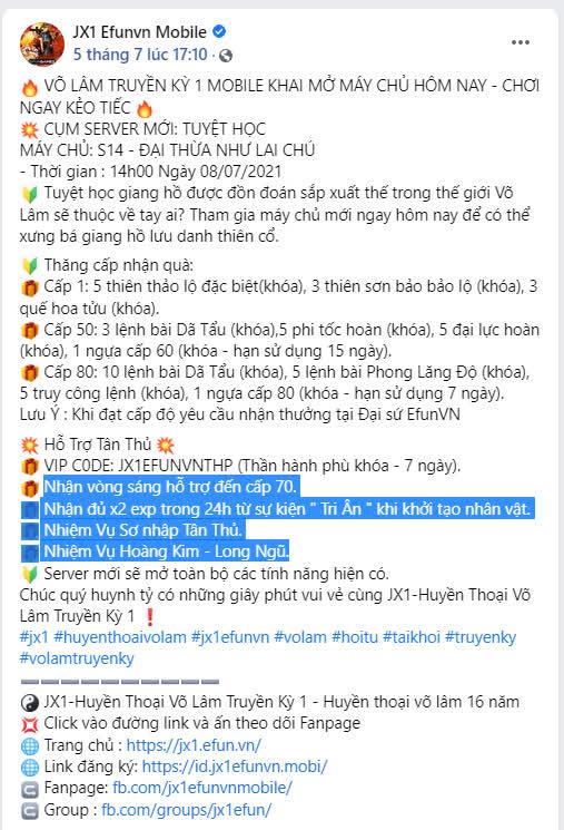 Cộng đồng Jx1 EfunVN Huyền Thoại Võ Lâm thiết lập kỳ tích đáng kinh ngạc trong ngày ra mắt server mới - Ảnh 7.