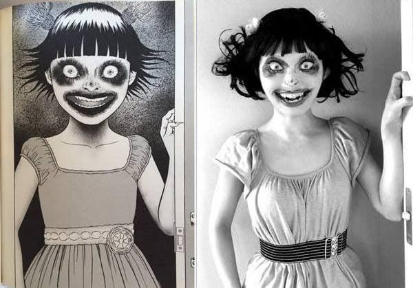 Màn cosplay có tâm nhất quả đất: Thay đổi thành ngàn khuôn mặt kinh dị, dùng photoshop lồng ghép luôn bản thân vào trong truyện tranh - Ảnh 7.