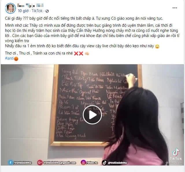 """Dính hàng loạt phốt và scandal, bị CĐM lên án gay gắt, cô giáo Minh Thu có hành động """"outplay"""" tất cả - Ảnh 2."""