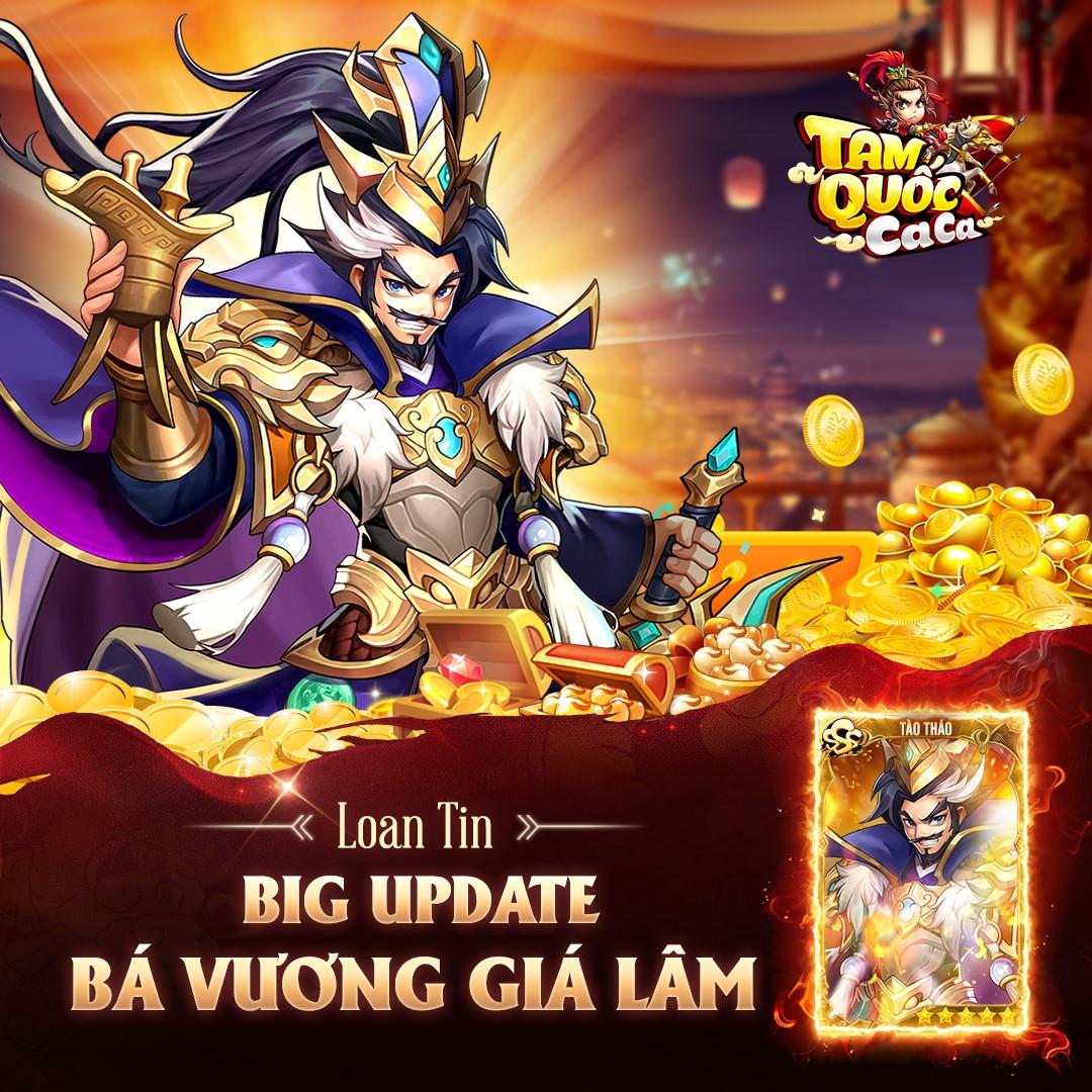 Tam Quốc Ca Ca chính thức tung Big Update Bá Vương Giá Lâm, tặng Giftcode đặc biệt cho tất cả game thủ! - Ảnh 1.