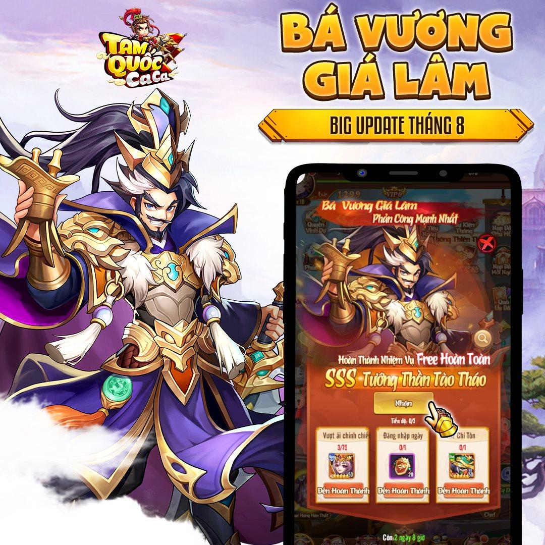 Tam Quốc Ca Ca chính thức tung Big Update Bá Vương Giá Lâm, tặng Giftcode đặc biệt cho tất cả game thủ! - Ảnh 6.